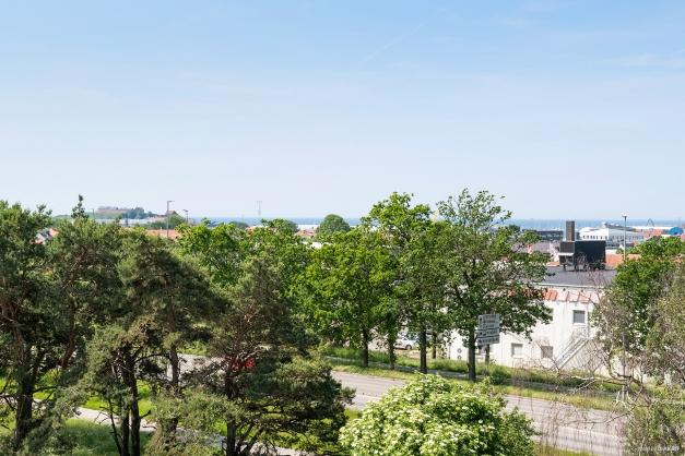 Härlig utsikt från balkongen.