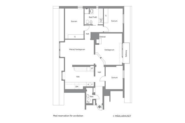 Välplanerat penthouse