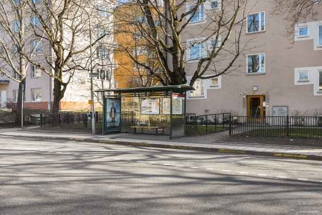 """Närmsta busshållplats heter """"Marmorgatan"""""""