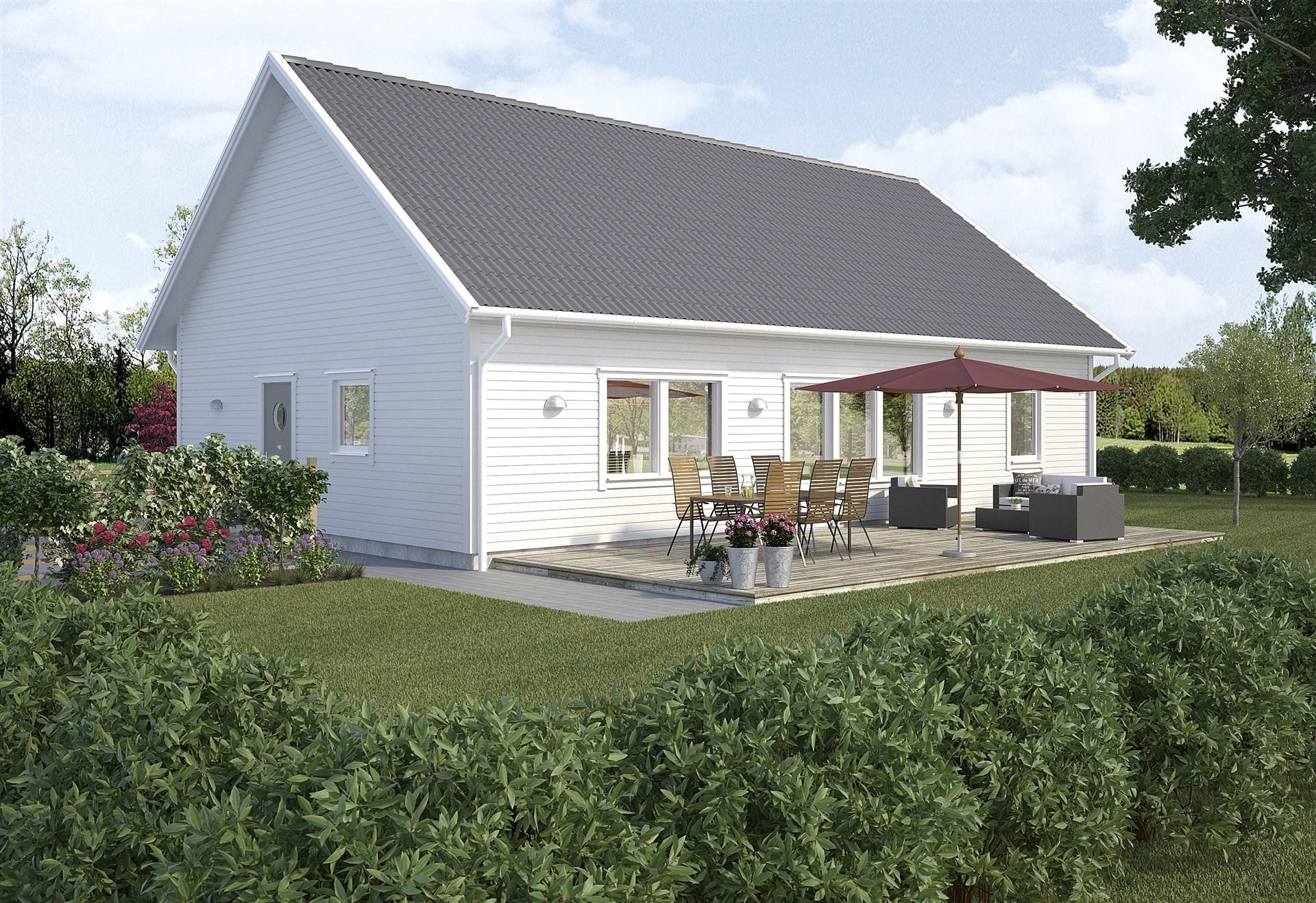 Det här huset är ett förslag från Varbergshus på vad du kan bygga på denna tomten!