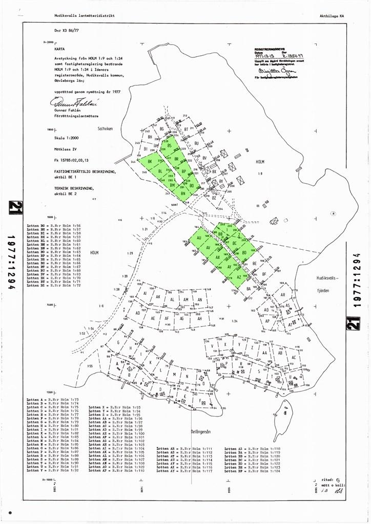 De fastigheter som finns till salu är de grönmarkerade. Genom förteckningen framgår fastighetsbeteckningen.