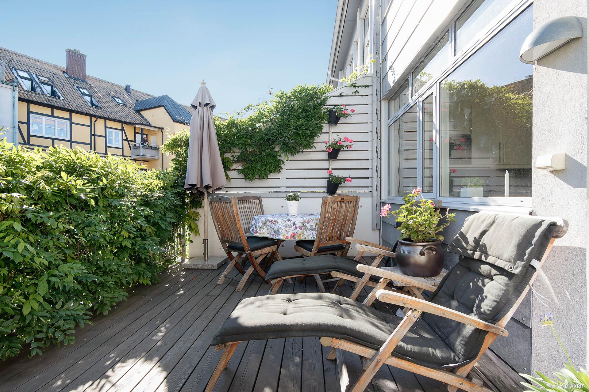 Soldäck/terrass vån 2