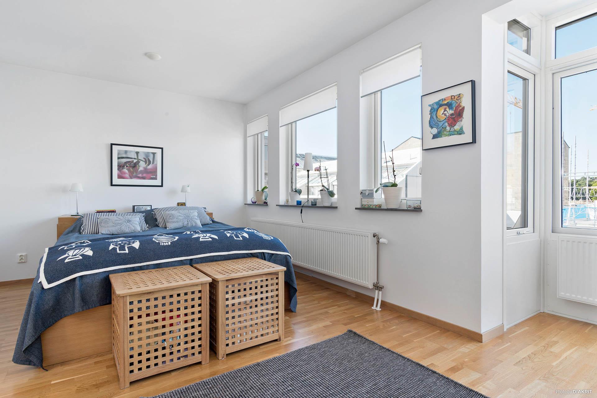 Master bedroom, plan tre (kan göras om till två sovrum)