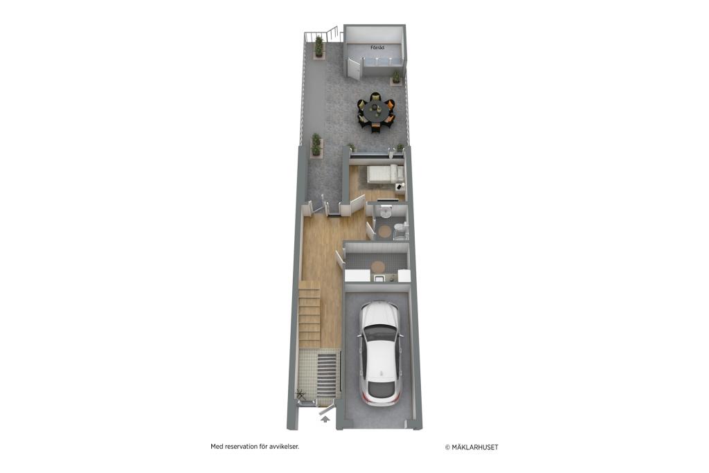 Planskiss 3D - entréplan