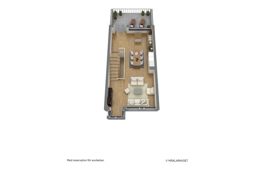 Planskiss 3D - plan två