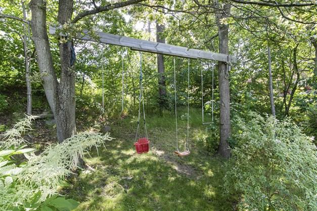Trevlig trädgård