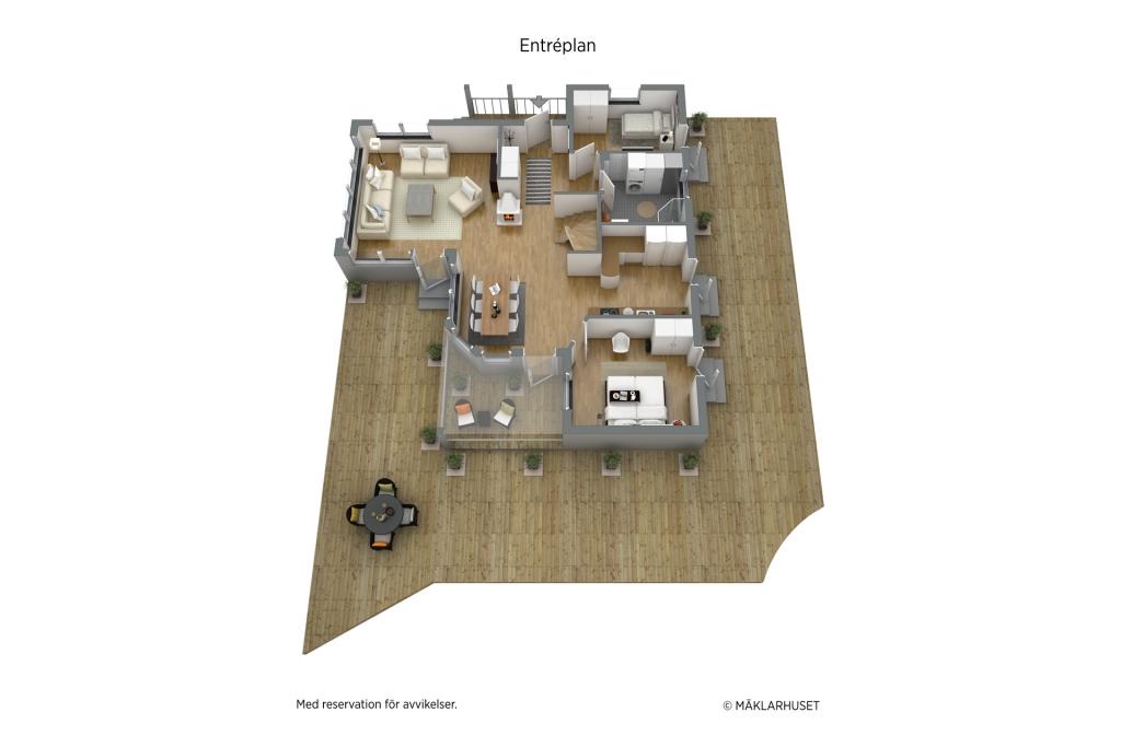Möbleringsförslag entréplan
