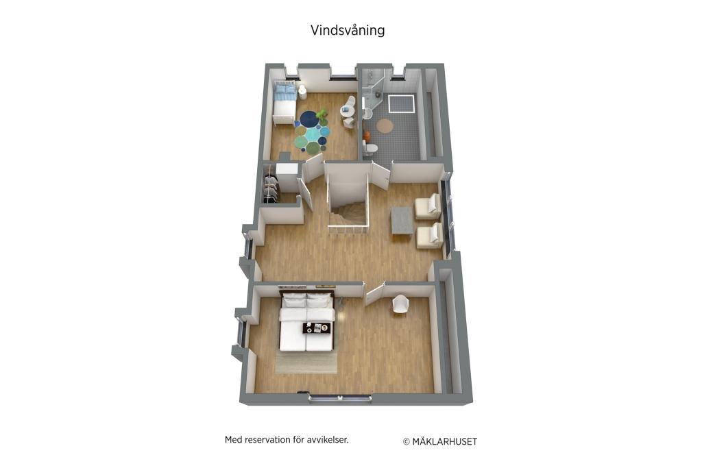 Möbleringsförslag övervåning