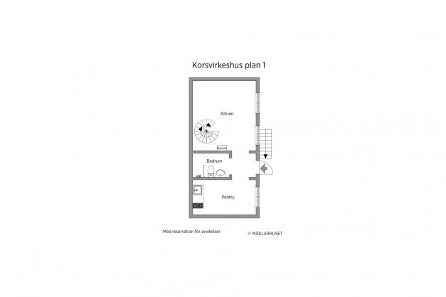 Korsvirkeshus plan 1