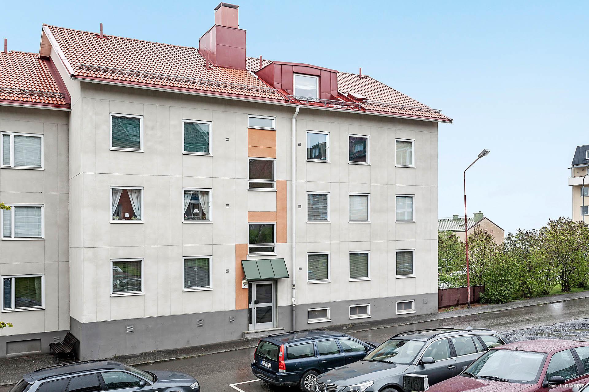 Fasaden från Storgatan