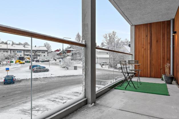 Underbar balkong om ca 13 kvm