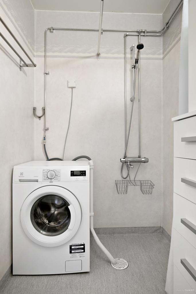 Egen tvättmaskin.