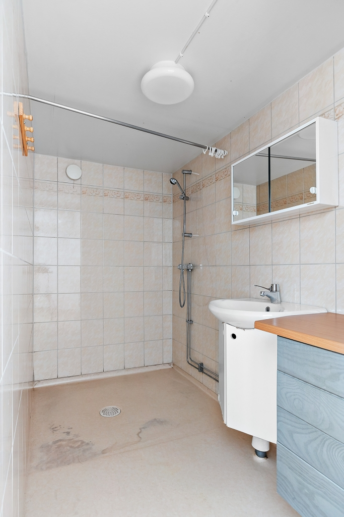 Duschrummet i källaren