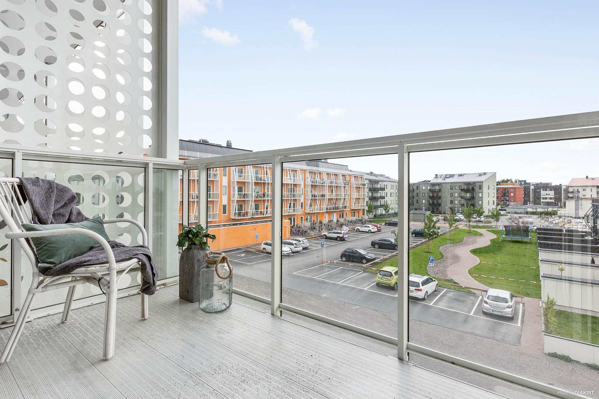 Utsikt från balkong