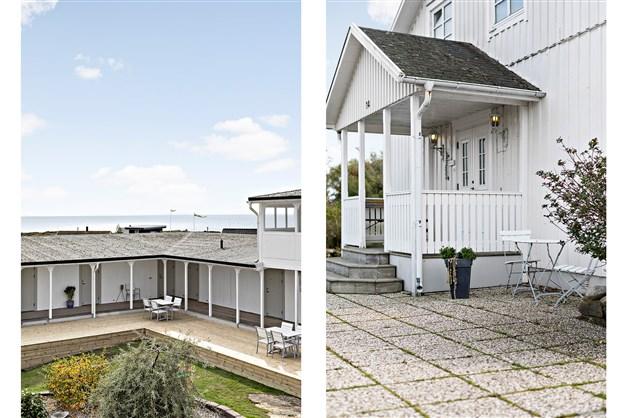 I den u-formade hotelldelen finns totalt 15 bostadsrätter och i villan finns totalt 4 bostadsrätter.