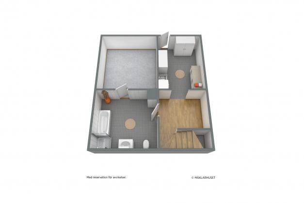 Planritning - 3D Källarplan