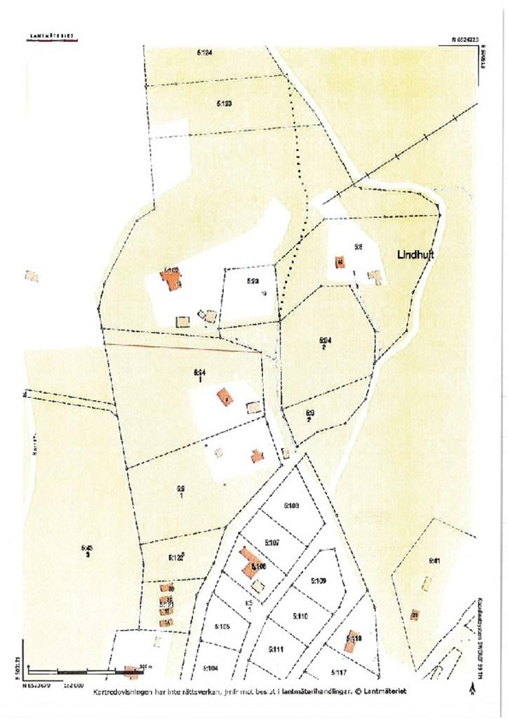 Fastighetskarta efter avstyckning bild 2