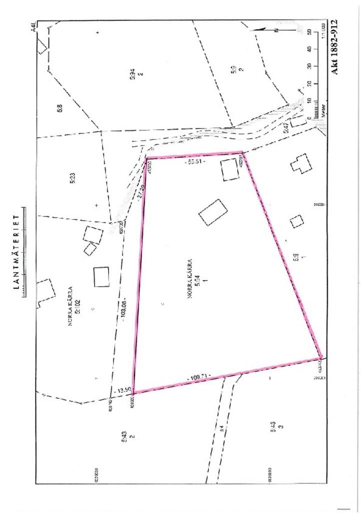 Fastighetskarta efter avstyckning bild 1
