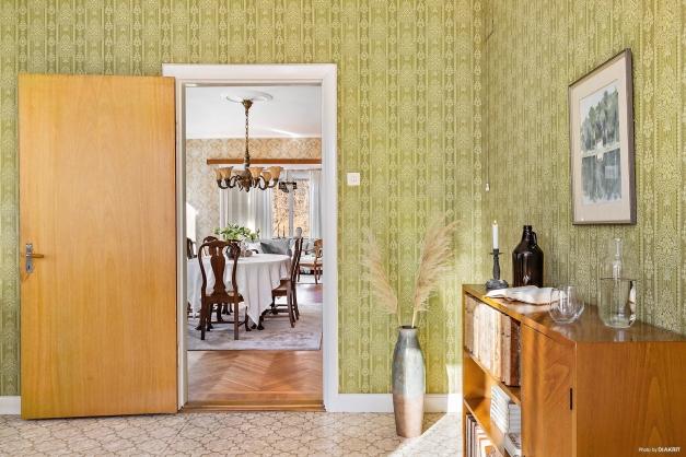 VARDAGSRUM - De tre största rummen ligger i fil och ger en fantastiskt känsla