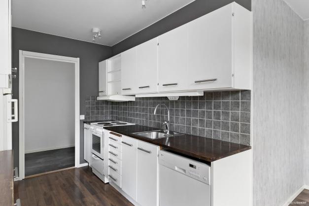 Kök i vitt och grått