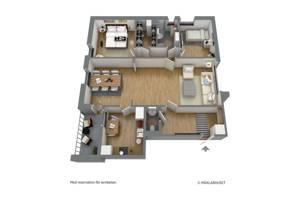 Möblerad planlösning