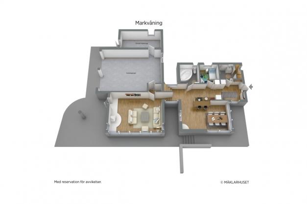 Markvåning- 3D planritning.