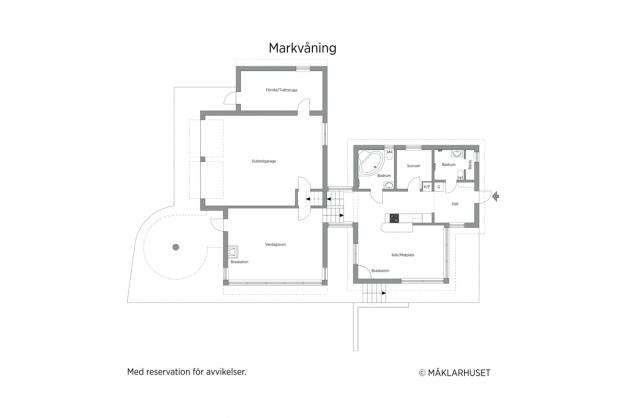 Markvåning - 2D planritning.