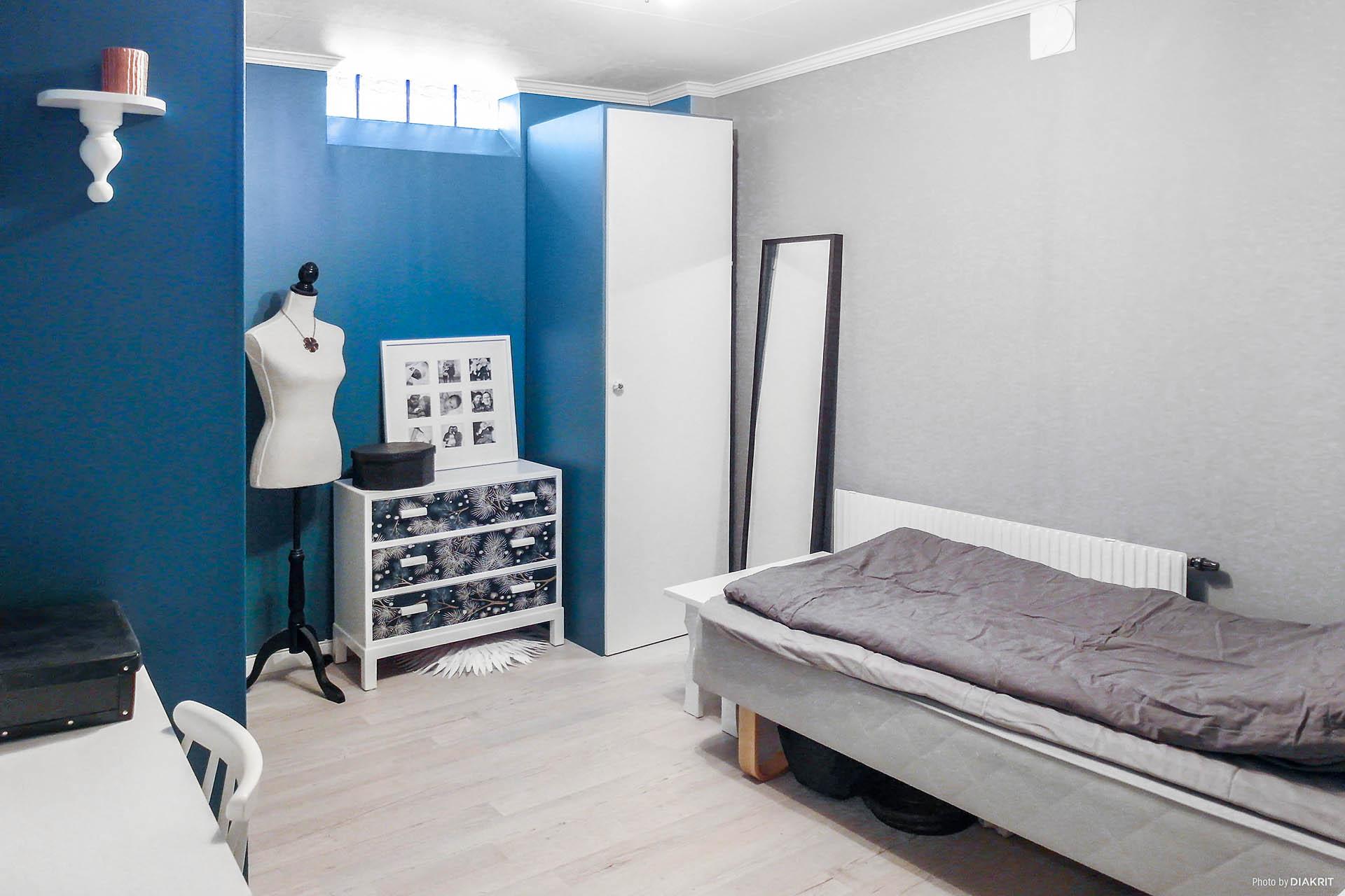 Inrett rum/sovrum i suterrängplan