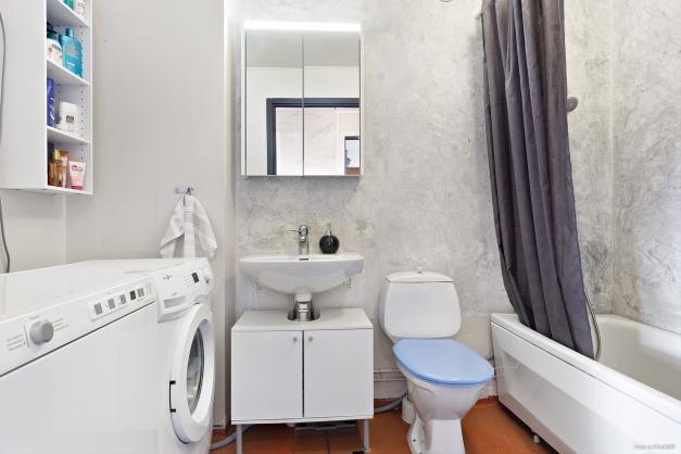 Badrum med tvättmöjligheter