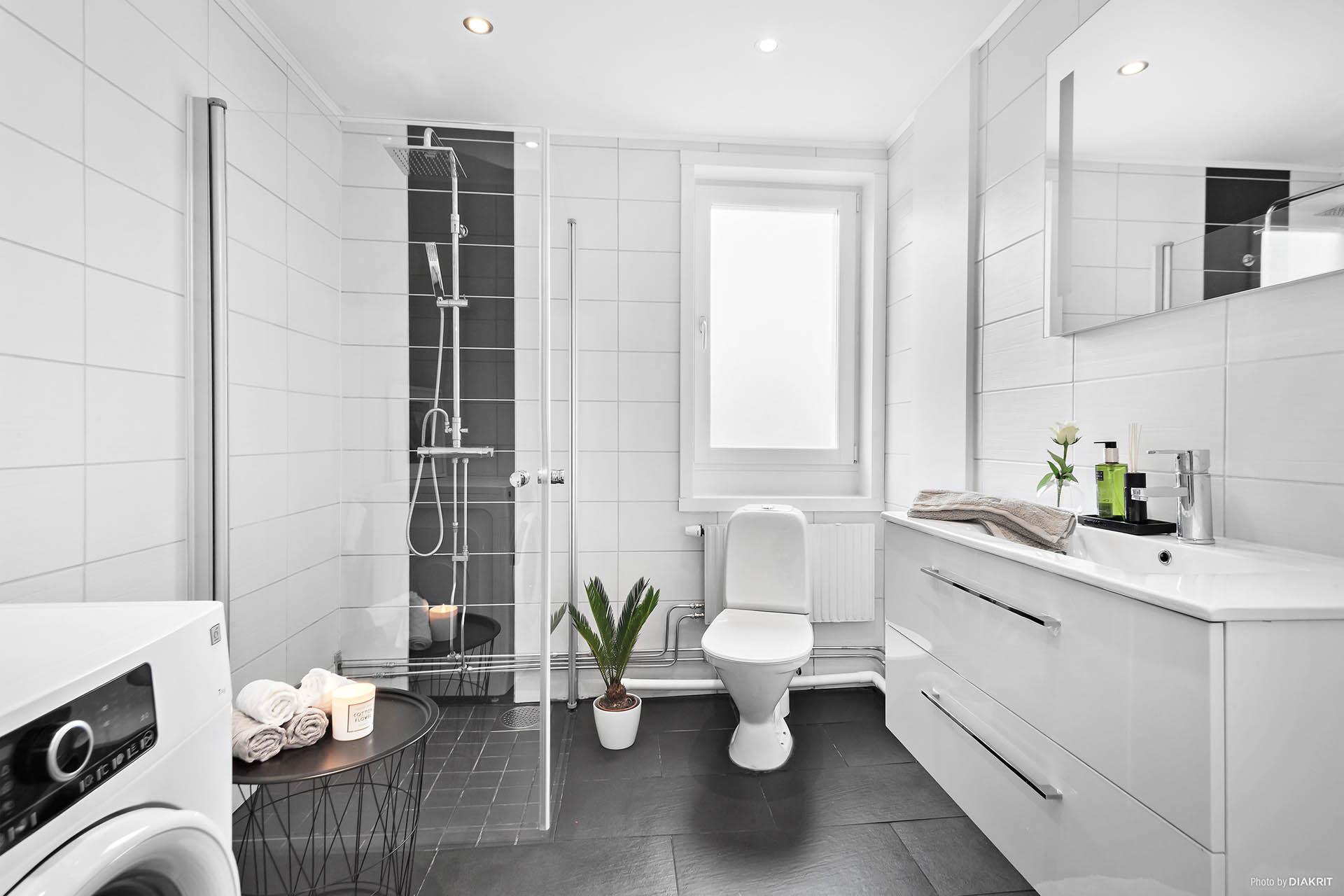 Helrenoverat badrum