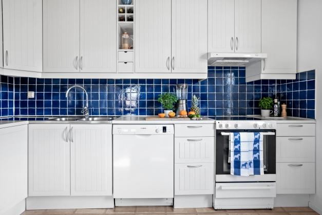 Kök med bra arbetsytor och förvaring