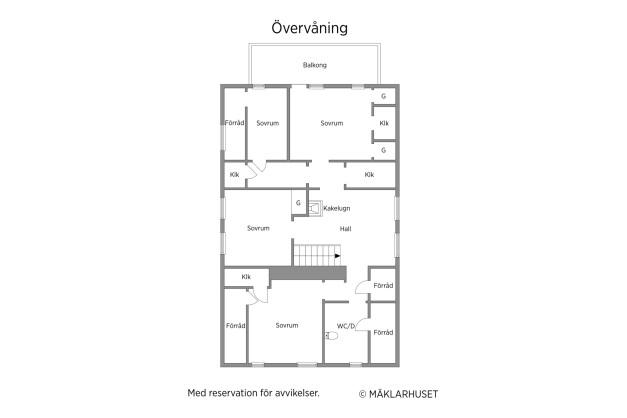 Planritning, andra våning