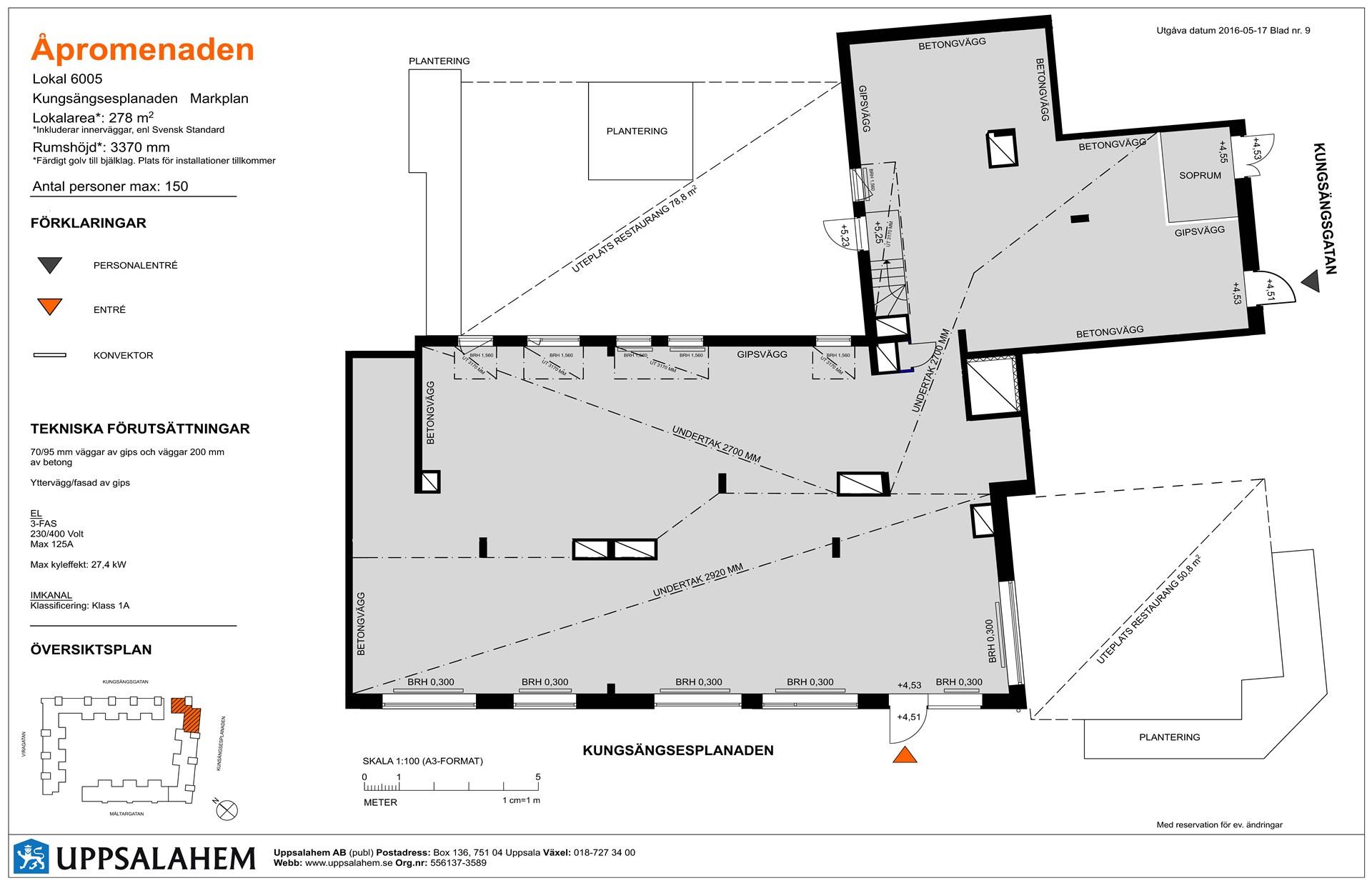 Lokal 5 - 278 m² Inflytt kvartal 3, 2017