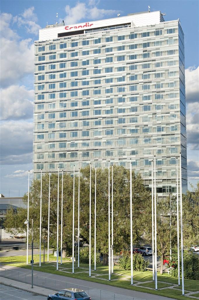 Scandic talk hotel med härlig utsikt från sky-baren högst upp