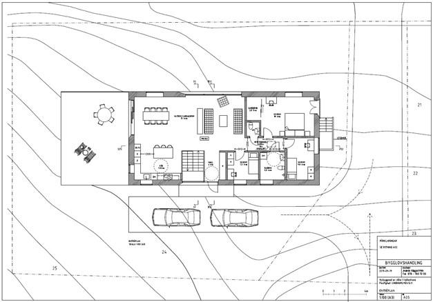 Planritning för det sökta bygglovet