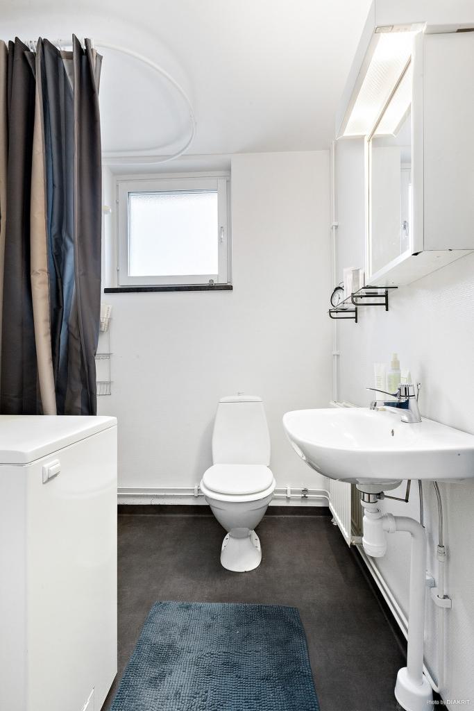 Fräsch toalett/dusch med egen tvättmaskin