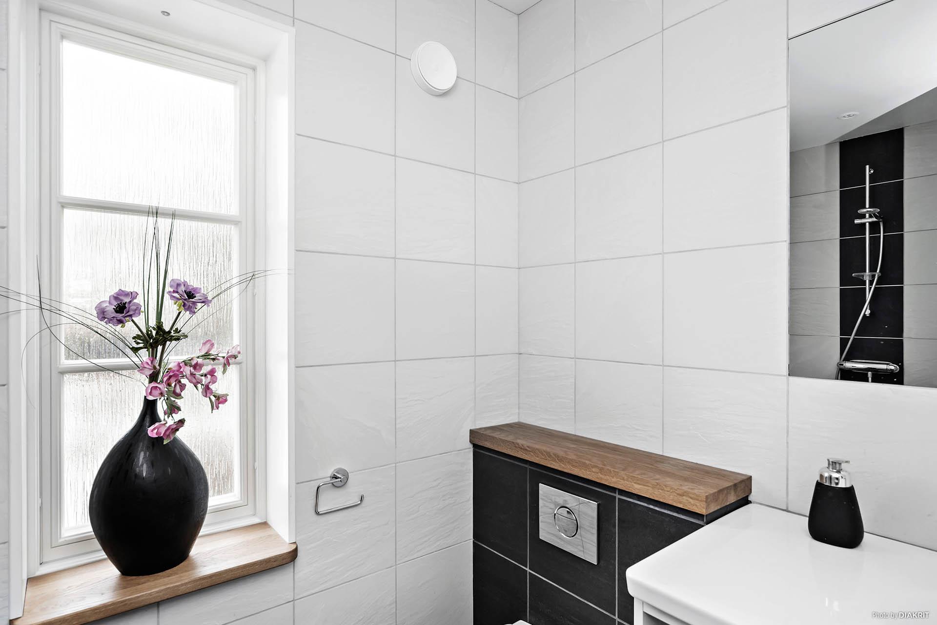 Generöst duschrum