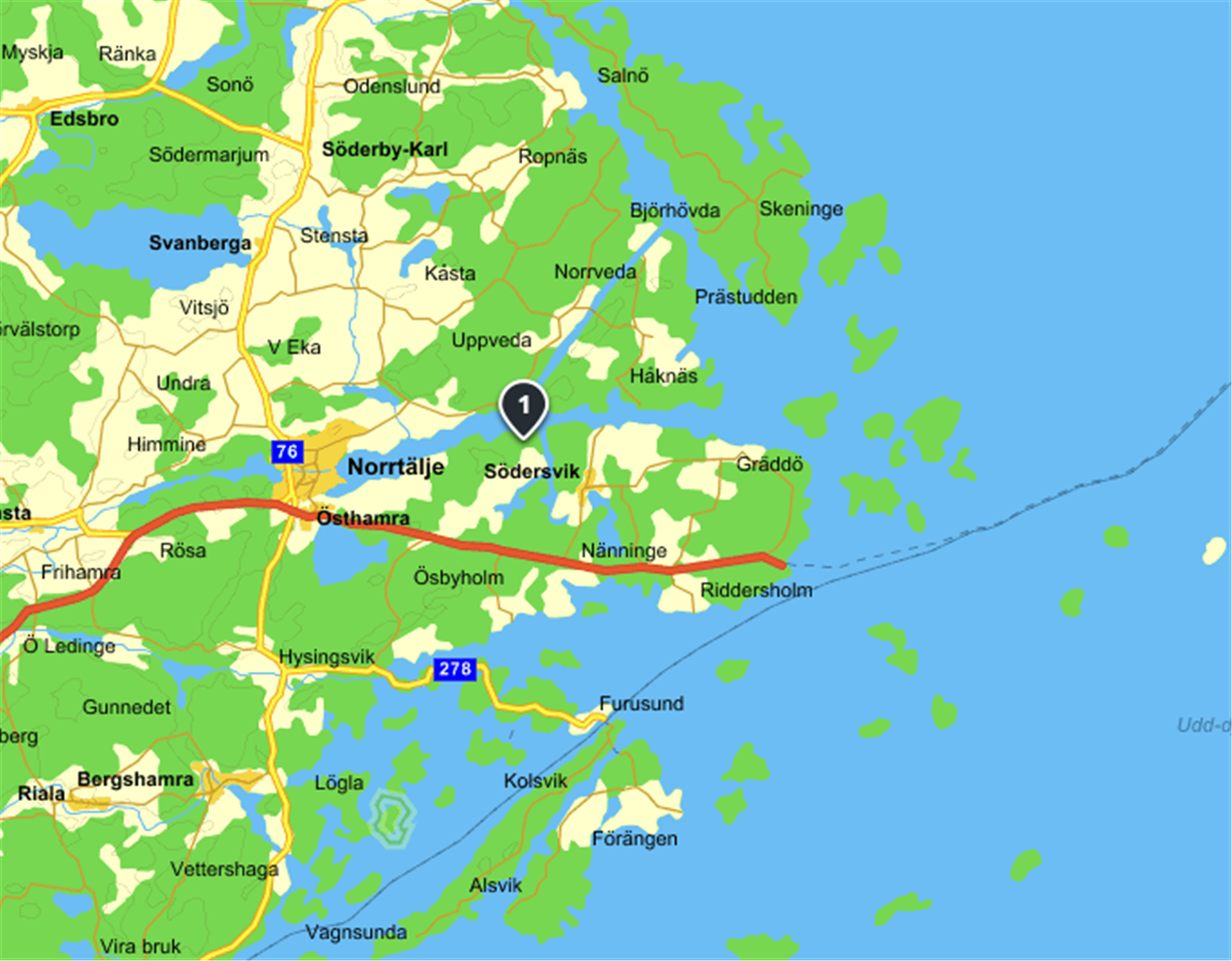Karta Norrtälje