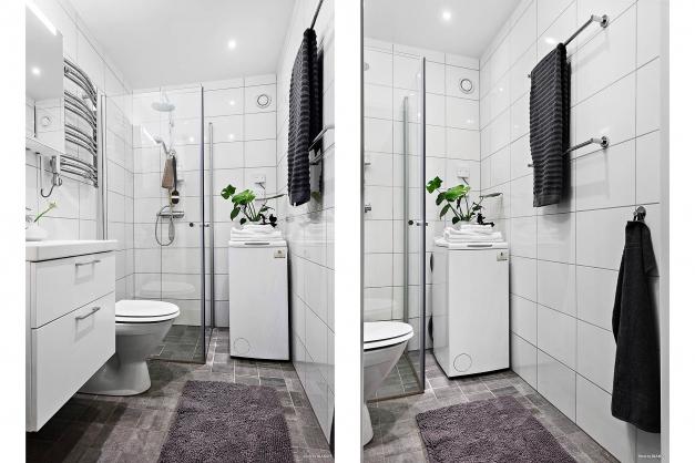 Halkaklat fräscht badrum