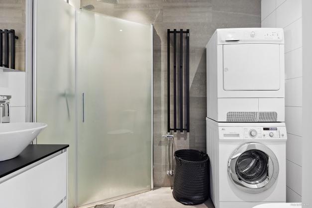 Tvättmaskin med torktumlare.