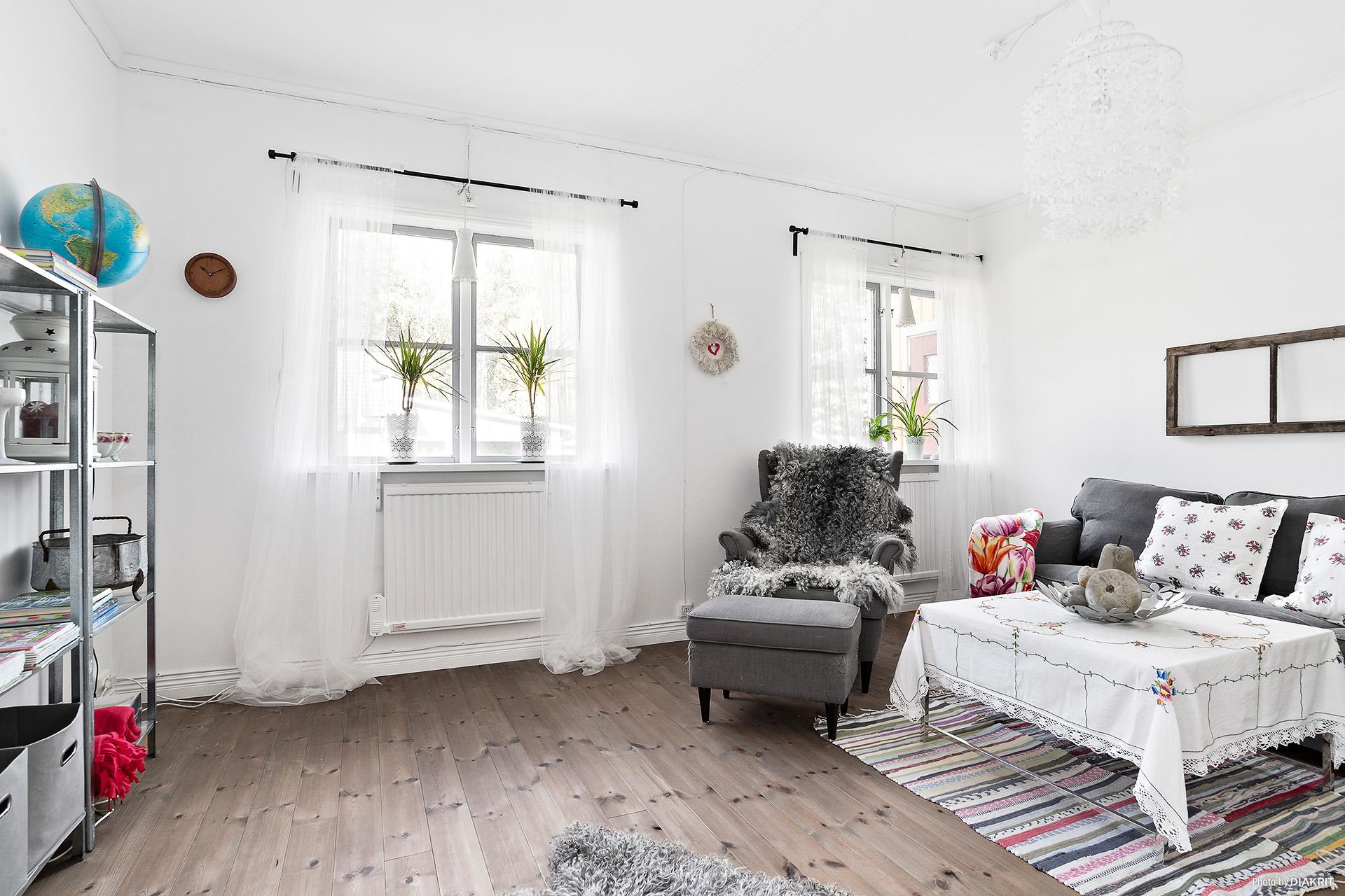 Vardagsrum i lägenheten