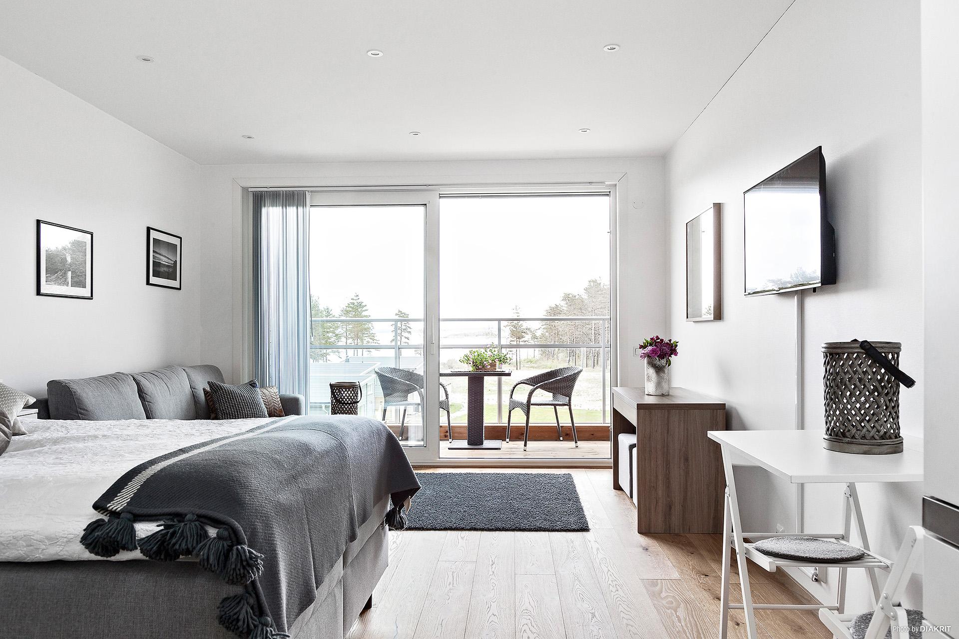 Trevlig lägenhet med öppen planlösning.