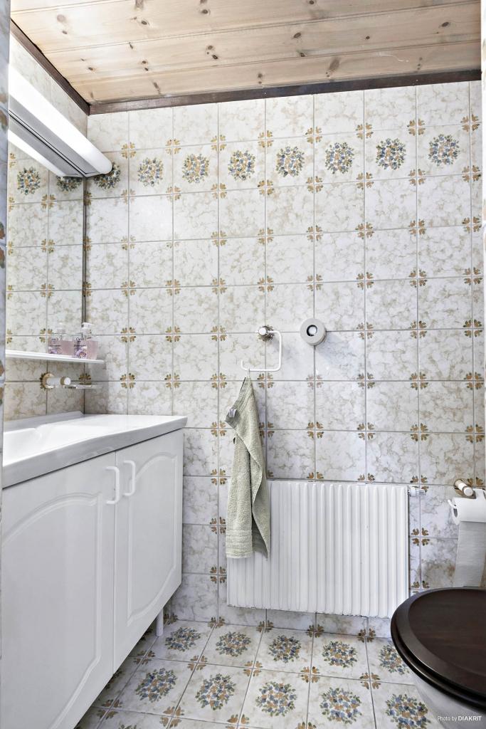 WC vid dusch/bastu