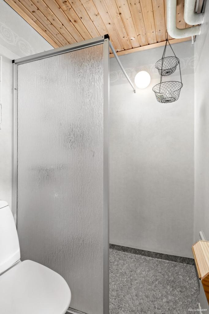 Dusch i källarplan