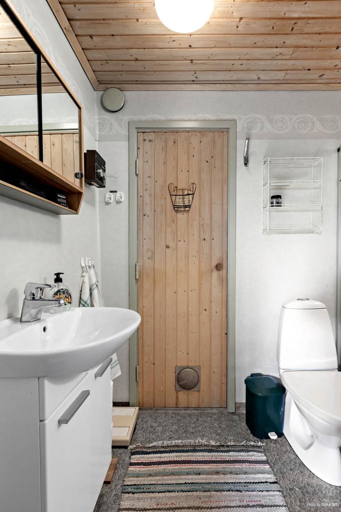 Toalett/dusch intill gillestugan