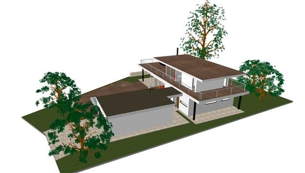 Arkitektritad villa.