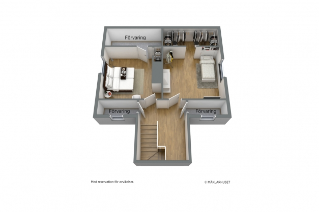 Planskiss 3-D övre plan