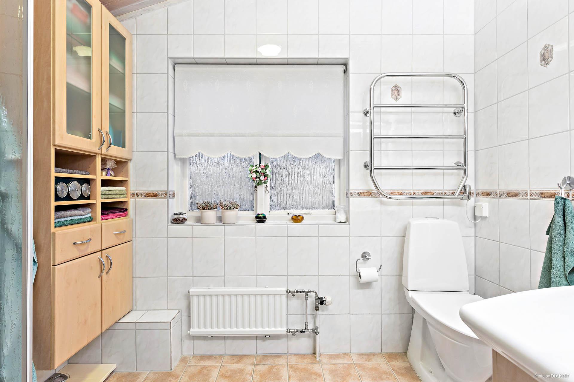 Badrum med dusch, bottenvåning