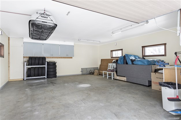 Rymligt garage