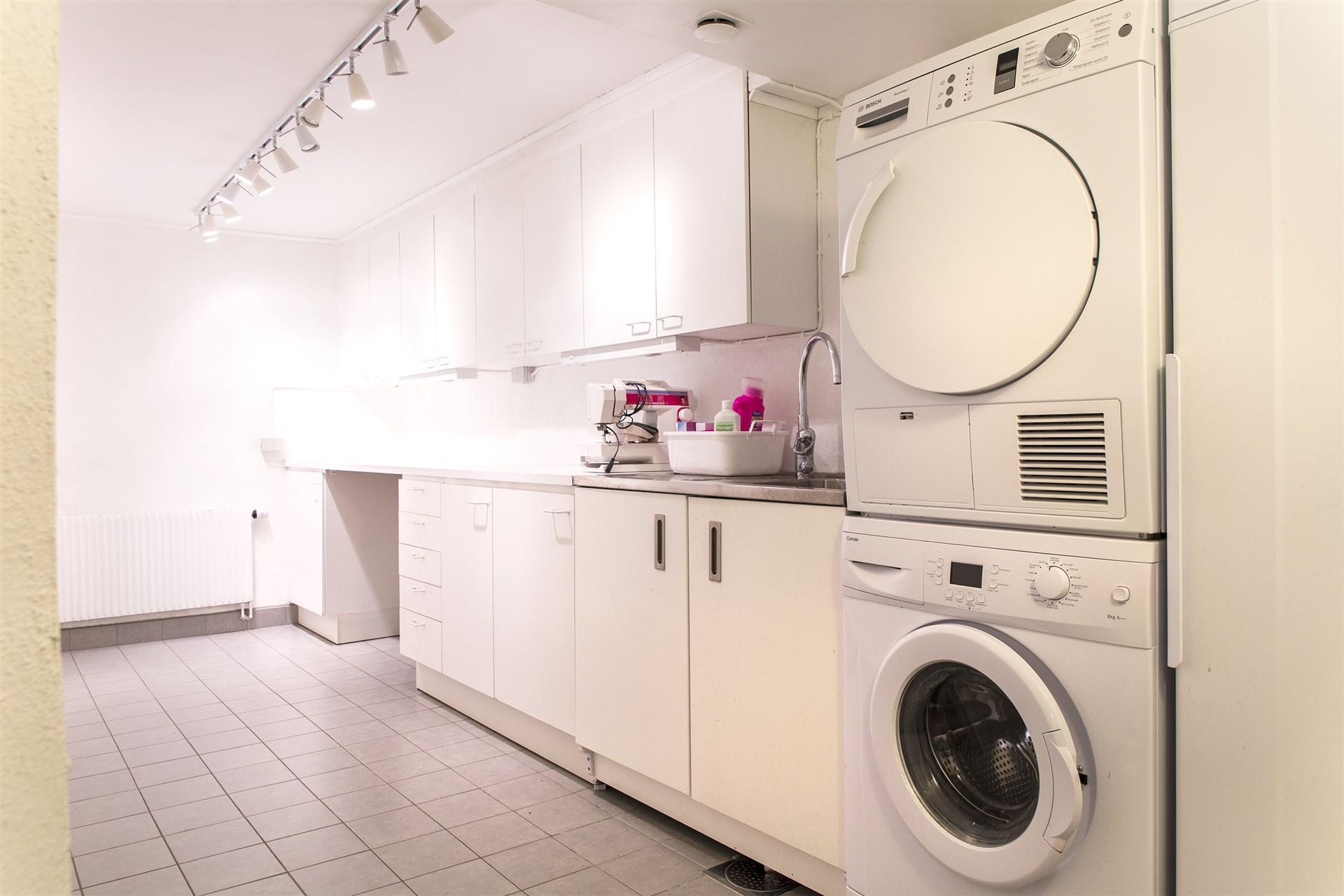 Tvättstuga i källarvåningen